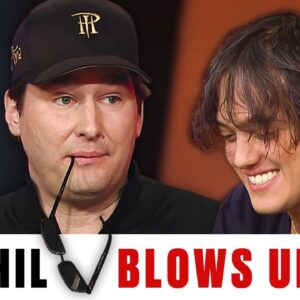 Hellmuth BLOWS UP against Italian Poker Pro ♠️ Best of The Big Game ♠️ PokerStars