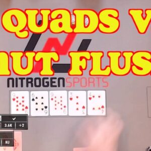 Poker Time Cash Game: Flopping Quads when your Opponent makes the Nut Flush! Straight Unfair!