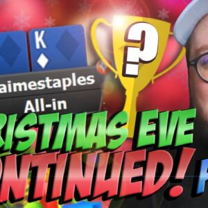 CHRISTMAS EVE PART 2! MAGNIFICENT $77 FINAL TABLE! | PokerStaples Stream Highlight