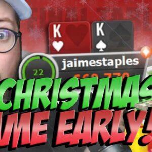 CHRISTMAS EVE FINAL TABLE & DEEP RUNS!! Pt.1 | PokerStaples Highlights