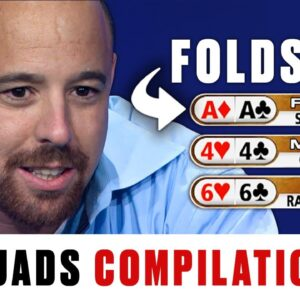 Folding ACES PREFLOP and DODGING QUADS ♠️ Best of The Big Game ♠️ PokerStars