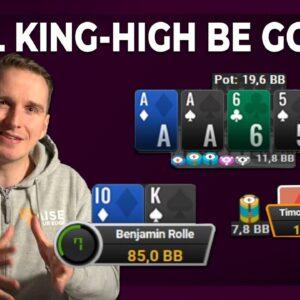 BLUFF CATCHING KING HIGH vs Timothy Adams?! | Bencb High Stakes Live Play