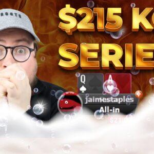 $215 KO SERIES BIG CHRISTMAS SWEAT ON PARTYPOKER | Pokerstaples Stream Highlights