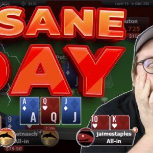 INSANE DAY OF KO SERIES POKER | | Pokerstaples Stream Highlights
