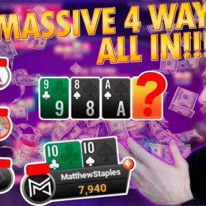 CRAZY MULTIWAY ALL IN!! 2X FINAL TABLE! MattStaples Stream Highlights