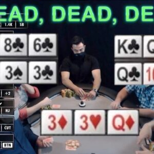 Poker Time Cash Game: Flopping Top Full House and DRAWING DEAD!!