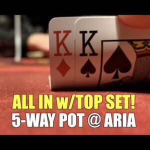 First Hand I'm All In w/Top Set In 5 Handed Pot!! Poker Vlog Ep 150