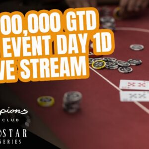 Lone Star Poker Series | $1,000,000 GTD Main Event Day 1d