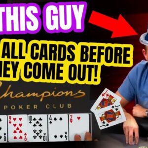 Poker Player Calls All Cards Before They Come Out! WTF!
