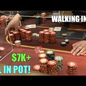 I Walk Into $7000+ Pot!! Playing Highest Stakes I Can Find! Poker Vlog Ep 155