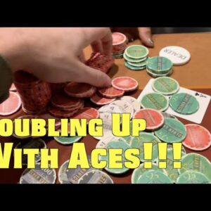 I Double Up w/Aces In Massive 4-Bet Pot That Goes Perfectly!! Poker Vlog EP 161