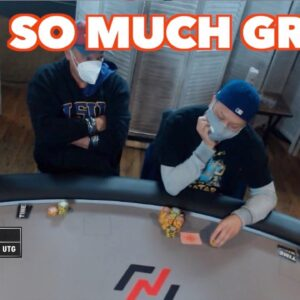 Poker Time Cash Game: Everyday they're Grinding...