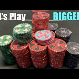 Flopping Top Set First Hand Of High Stakes NL And Getting Raised! Poker Vlog Ep 166