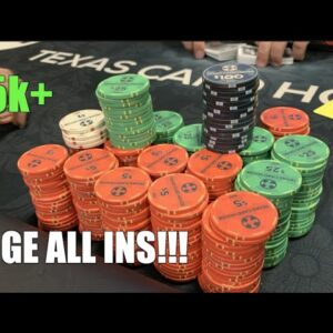 I Have $5k+ Stack In WILDEST 5/5 NL Game I've Ever Played!! Don't Miss! Poker Vlog Ep 165