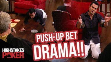 Antonio Esfandiari Push-Up Prop Bet on High Stakes Poker