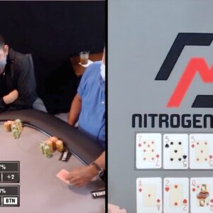 Poker Time: Quads vs. Top Set!! (on One Board in an Omaha Bomb Pot)