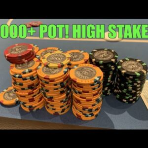 Backdoor Full House To Win $6000+ Pot In High Stakes @ Bellagio w/Poker Legend!!
