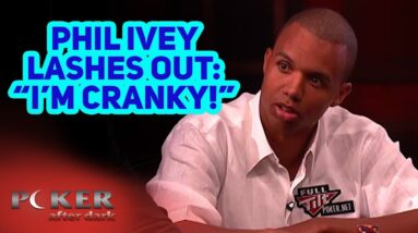 Phil Ivey Gets Very Annoyed at Phil Hellmuth