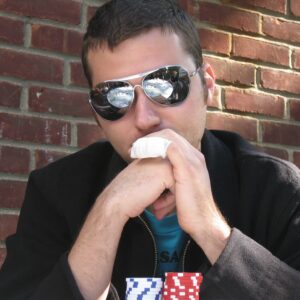 why do some poker players wear sunglasses