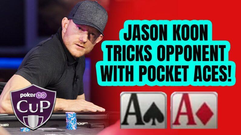 Jason Koon Plays Pocket Aces to Perfection!