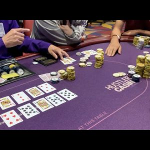 Three-Person ALL IN For $3500 Gets Wild!! I Have Absolute Best Hand! Poker Vlog Ep 179