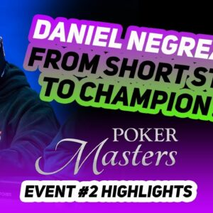 Can Daniel Negreanu Overcome a Short Stack and Claim his First Poker Masters Win?