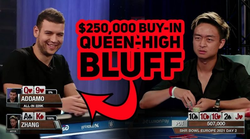 Bluffing All-in with Queen-High: Brilliant or Terrible?