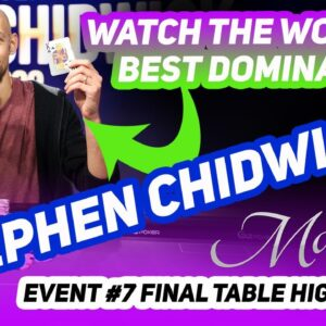 """The Pros Call Stephen Chidwick """"The Best Poker Player in the World"""" And Here's Another Reason Why!"""