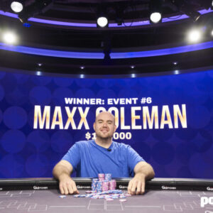 maxx coleman takes 2021 poker masters event 6 for 120k
