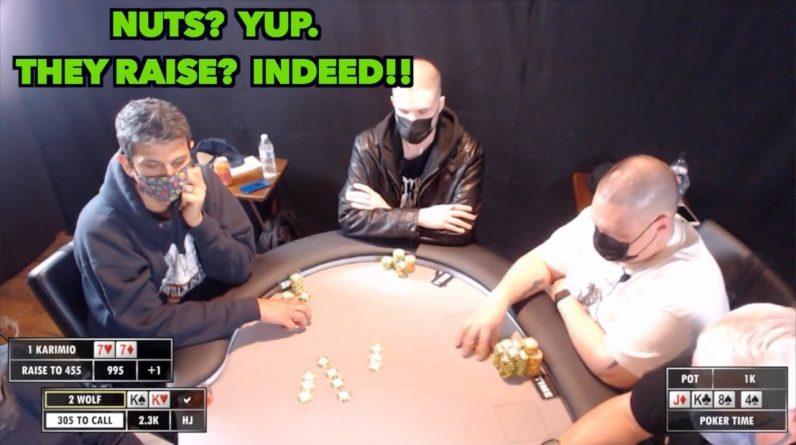 Poker Time: Getting Raised in a 5-10-20 Game When You Got THE NUTS