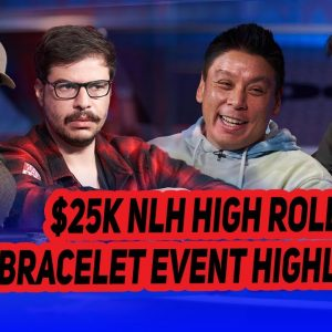 2021 WSOP $25,000 High Roller Final Table Highlights with Adrian Mateos & Mustapha Kanit