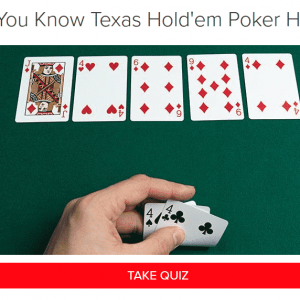 can you ace this poker hands quiz