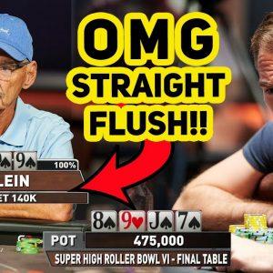 Straight Flush in $300,000 No Limit Texas Hold'em Tournament!