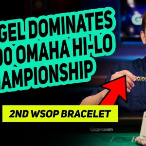 Ari Engel Outlasts Phil Hellmuth and Wins $10,000 Omaha Hi-Lo WSOP Championship Bracelet
