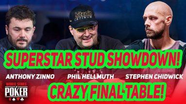Phil Hellmuth Headlines WSOP 2021 $10,000 Seven Card Stud Championship Final Table